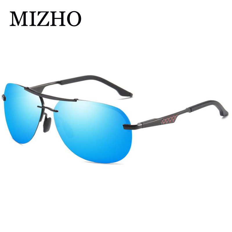 MIZHO High Quality Sunglasses Men Polarized Pilot UV400 HD Mirror Lens Strong Durable Frame Driver Sunglasses Women Polaroid in Men 39 s Sunglasses from Apparel Accessories
