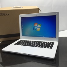 windows 10 system 13.3 inch pc White laptop 8G ram 500G HDD and 64G SSD with wifi and camera