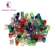 Wholesale 5mm 300pcs/Lot 5 MM Bicone Beads Glass Crystal Mixed Colors 5301 Cystal