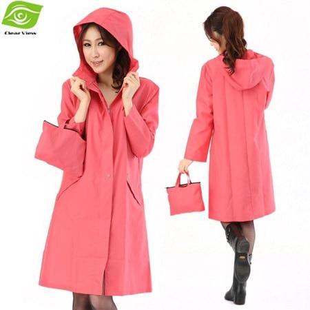 Long Rain Jacket With Hood | Outdoor Jacket