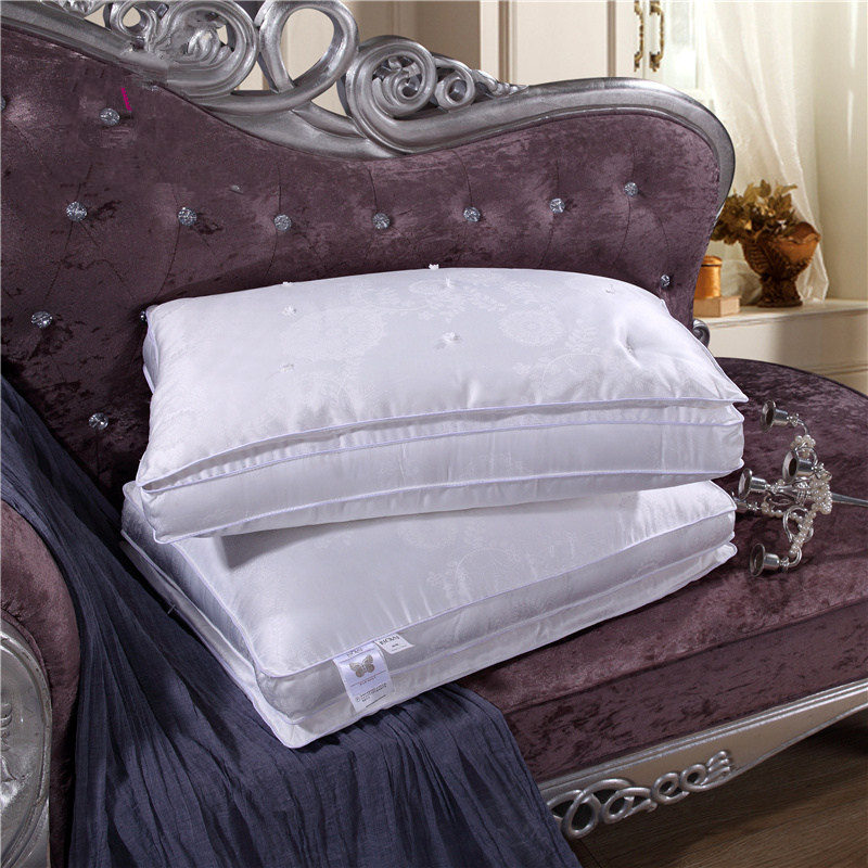 ФОТО Saint Haven High Quality Silk Pillows For Decoration 100% Pure Cotton Brand New Car Travel Health Care Pillow Bedding Set Neck