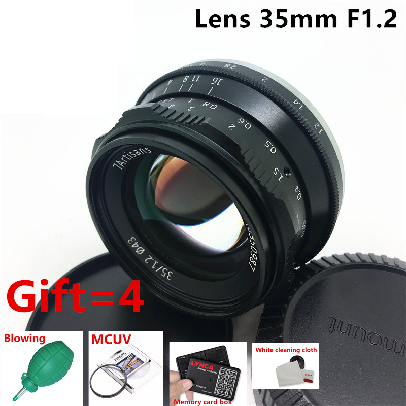7artsians 35mm F1.2 APS-C lens for sony a5100 a5000 a6000 a6300 a6500 nex-7 nex-6 Micro single camera lens 35-1.2 Portrait lens mirroless for aps c camera 35mm f 1 6 33mm f1 6 for micro camera free shipping