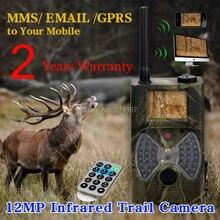 1080×720 Camuflagem hd GPRS MMS Wildlife Caça Câmeras Trappter MMS Câmeras de Monitoramento Livre shiping