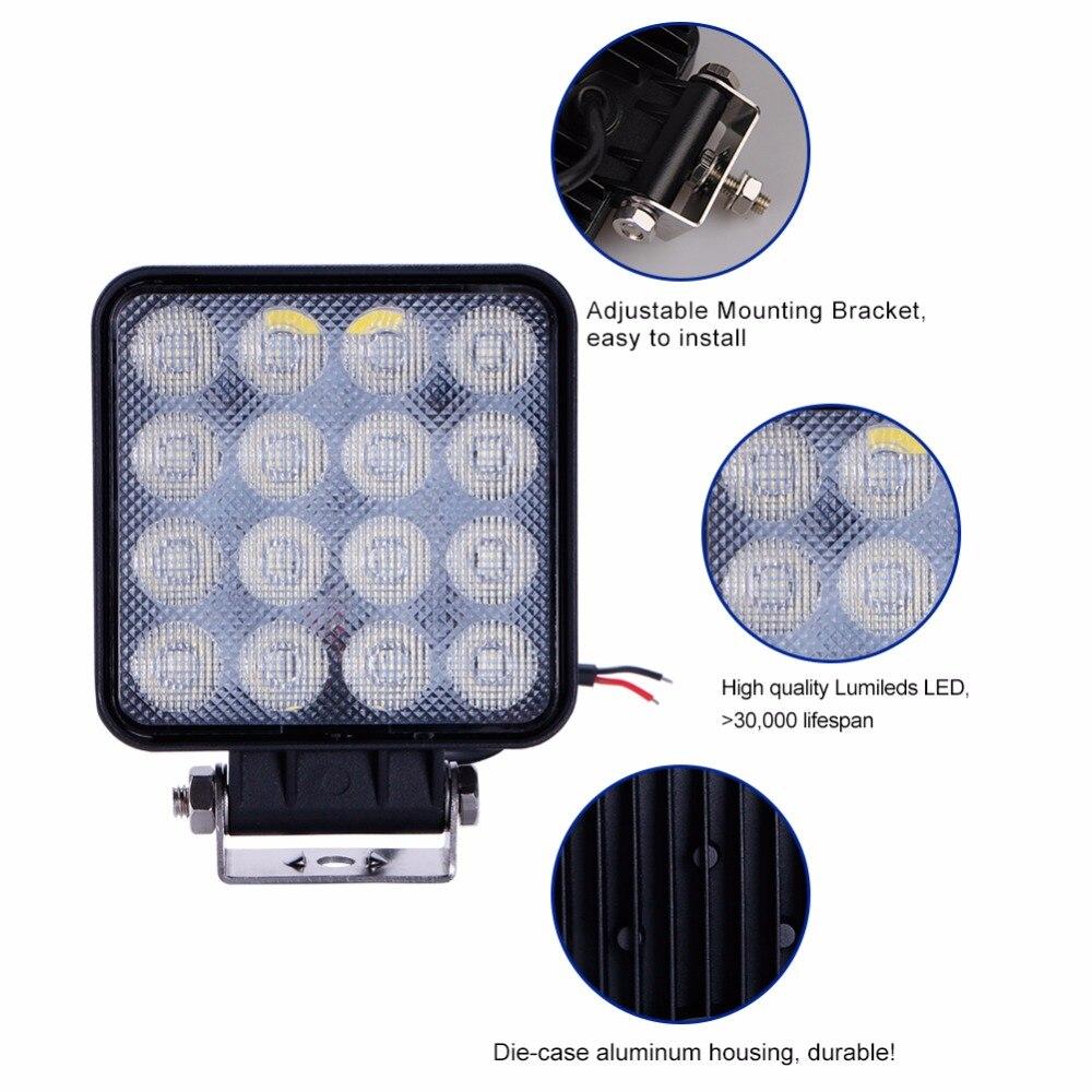 TC-X LED 48W İş İşıq Meydanı LED Daşqın İşıq Bar 4x4 - Avtomobil işıqları - Fotoqrafiya 3