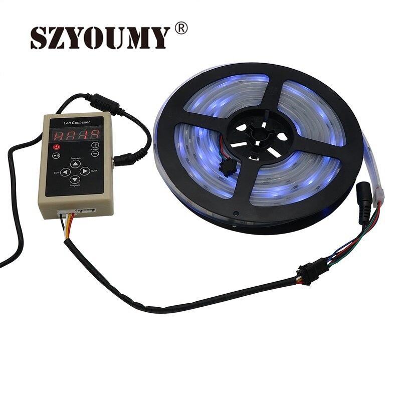 SZYOUMY 6803 IC Magic Dream couleur RGB LED bande 5050 30 LED/m chasse lumières + 133 programme RF contrôleur magique + adaptateur secteur
