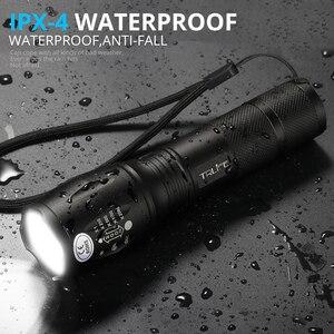 Image 3 - Linternas L2 táctica Led, linterna Ultra brillante T6, luz de Camping, 5 interruptor de cambios, luz de senderismo con zoom, luz de batería 18650