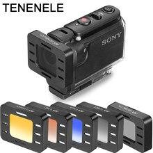 Działania etui na aparat fotograficzny dla Sony HDR AS50 AS300 AS300R polaryzacyjny UV filtry ND dla Sony MPK-UWH1 wodoodporna obudowa do nurkowania obudowa
