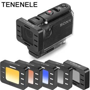 Image 1 - Eylem Kamera Filtresi Sony HDR AS50 AS300 AS300R Polarize UV ND Filtreler Sony MPK UWH1 Su Geçirmez Dalış Konut Case