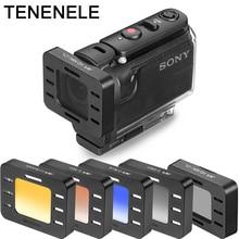アクションカメラフィルター HDR AS50 AS300 AS300R 偏光 UV ND フィルターソニー MPK UWH1 防水ダイビングハウジングケース