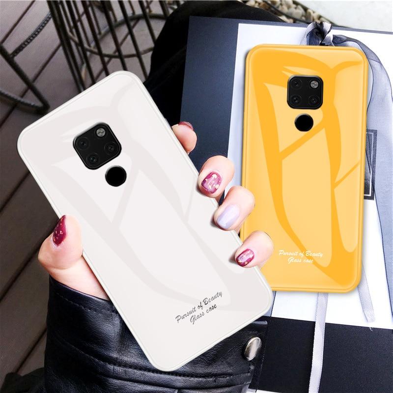 30 ピース/ロット Huawei 社メイト 20 プロメイト 20X 強化ガラスカバーソフトサイドガラスハードケース Huawei 社ノヴァ 3i 1080p スマートプラスノヴァ 4  グループ上の 携帯電話 & 電気通信 からの ハーフラップケース の中 1