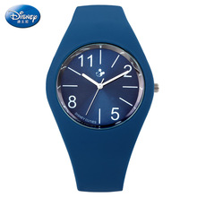 Disney brand Silicone children girls boys watches mickey mouse students kids clocks waterproof quartz wristwatch blue white