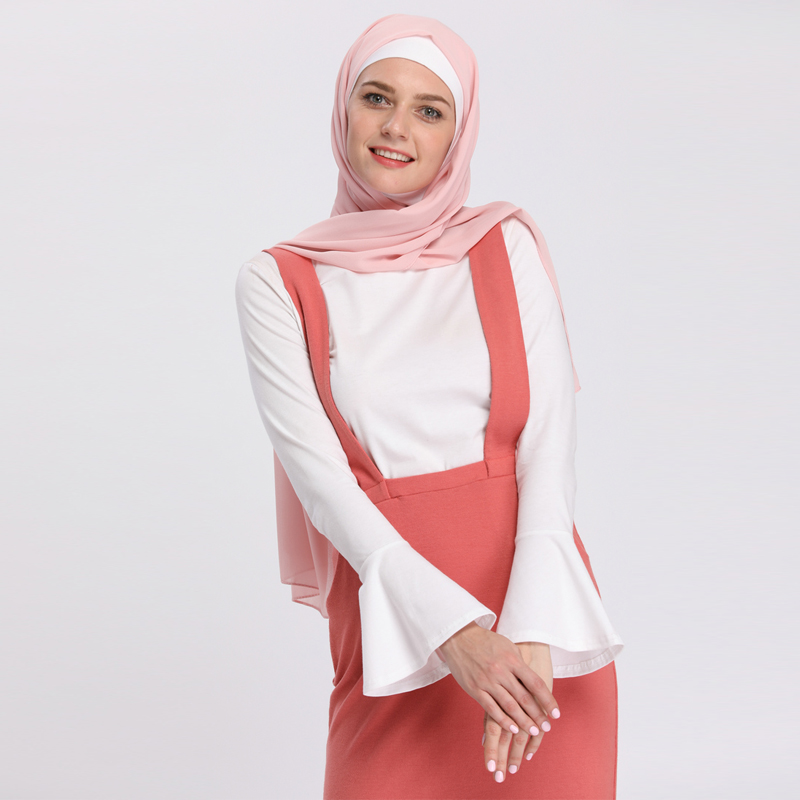 18a8db0775e14 2019 Abaya Turkey Islam Arabic Muslim Long Sleeve Top Women Musulman Saudi  Arabe Fake Two Pieces Tops Turkish Islamic Clothing
