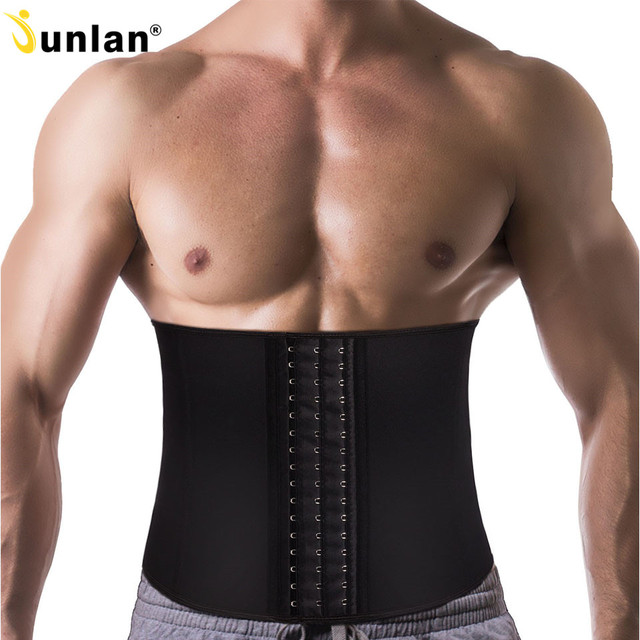 Junlan Waist Trainer for Men Neoprene Body Shaper Sweating Slimming Belt Reducing Sauna Shapewear Mens Tummy Trimmer Bodysuit