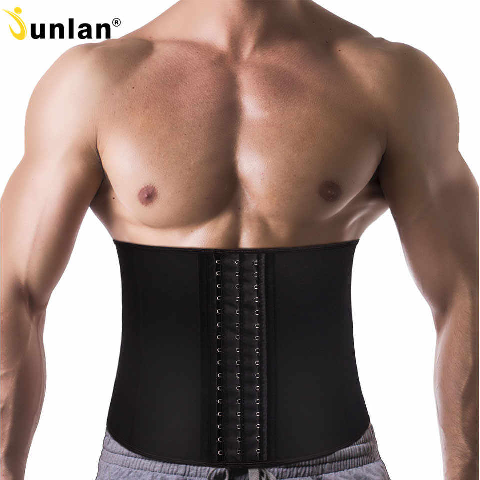 4a32058ac1 Detail Feedback Questions about Junlan Waist Trainer for Men Neoprene Body  Shaper Sweating Slimming Belt Reducing Sauna Shapewear Mens Tummy Trimmer  ...