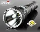 Warsun lumineux continu gradation HP50 lampe de poche LED 2500lm haute puissance 26650 rechargeable lanterne étanche avec 2 batterie + chargeur