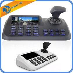 Onvif 3D CCTV IP PTZ joystick denetleyicisi klavye ile 5 inç LCD ekran IP PTZ kamera