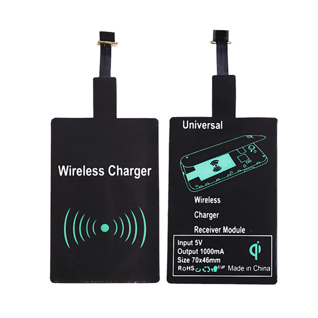 Mini Qi Wireless Charger Receiver Android Wireless Phone Charging Battery Micro USB Charger For Samsung HuaWei HTC Sony