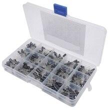 270 PCS 15 Valor Capacitores Eletrolíticos Variedade Caixa de Fácil Uso capacitor eletrolítico de Alumínio variedade kit set pacote
