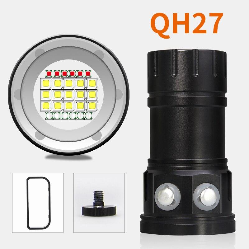 Nouveau lumineux 9000 Lumens sous marin 200 mètres plongée lampe de poche 6x XM L L2 lumière LED lampe torche de plongée 4x18650 - 3