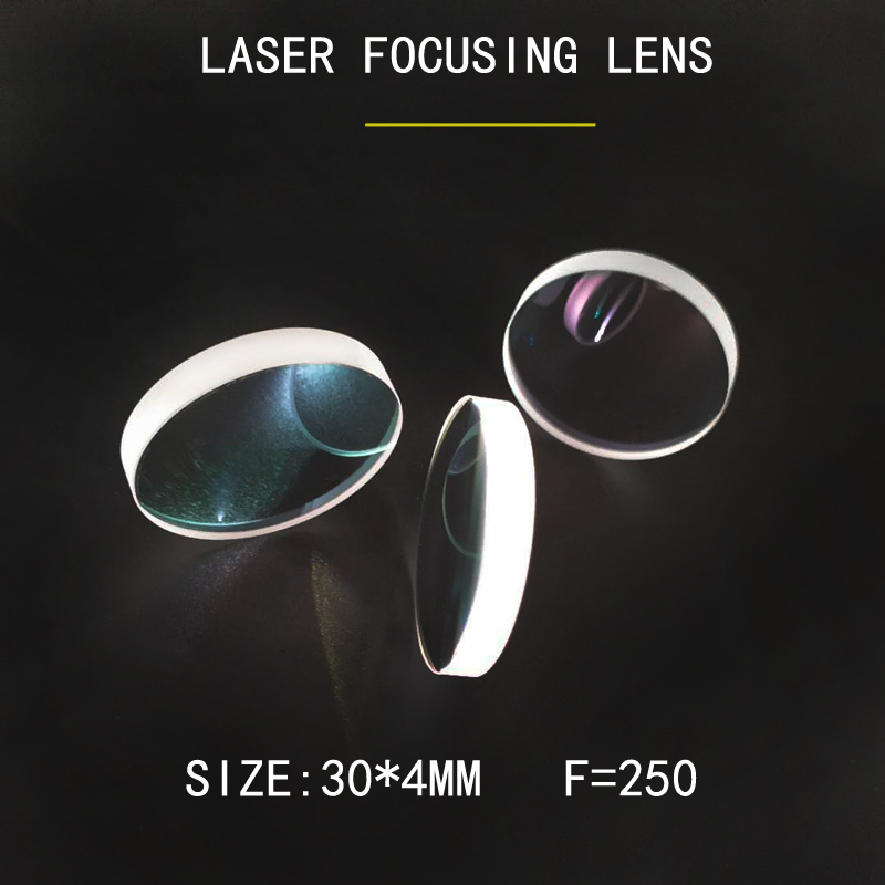 Weimeng brand factory directly suppply 30*4mm F=250mm quartz material 1064nm plano convex laser focus lens for laser machine