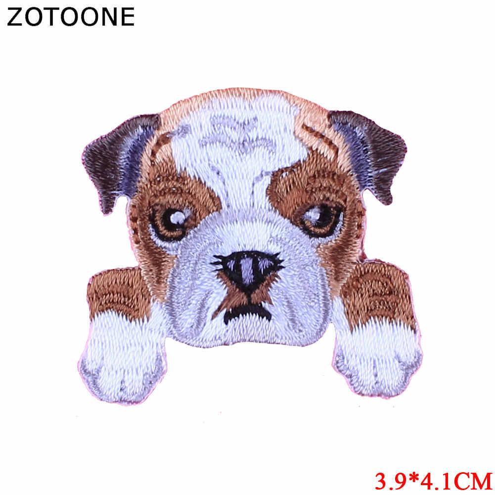 ZOTOONE 개 패치 Diy 스티커 의류에 귀여운 패치 다리미 열전달 Applique 수 놓은 응용 프로그램 천 패브릭 G