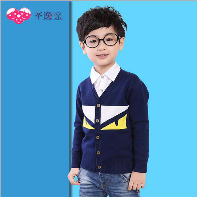 2016 Autumn Winter Sweater Kids Children Knitted Cardigan Sweater Pullover Infant Coat Baby Boys Girls Outerwear Clothes