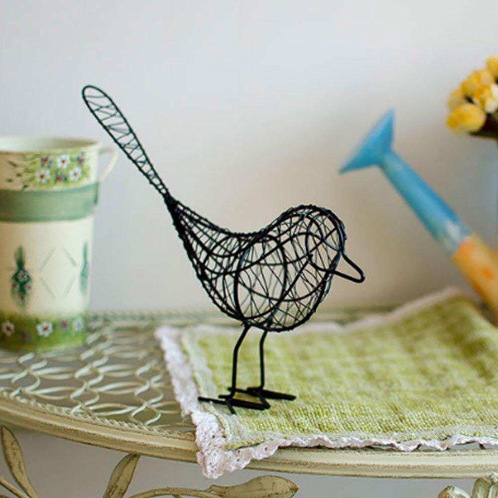 Iron Wire Bird White/Black/Blue Gift Beautiful Metal Wire Iron Bird Iron Home Decor Contemporary Model Drop Shipping Одежда