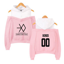 2018 new Kpop EXO LU HAN SE HUN KAI OVERDOSE Hoodies women Harajuku Fashion Sweatshirts Casual Girl Sexy Pullovers Tops