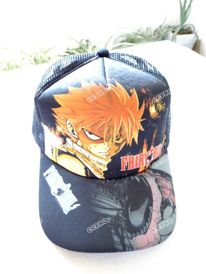 Fairy Tail Etherious Natsu Dragneel Anime Sun Cap Casual Peaked Snapback Mesh Hat For Boys Or Girls Fragrant Aroma