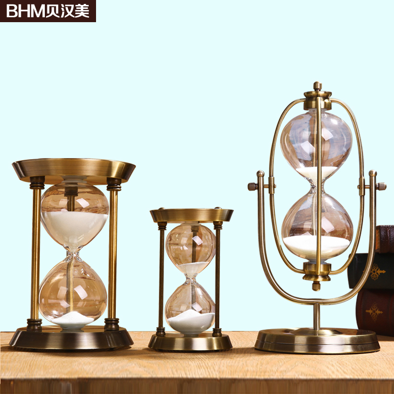 Home decoration accessories metal modern minimalist style room home decoration accessories metal modern minimalist style room decoration hourglass soft furnishings wedding gift ornament in figurines miniatures from junglespirit Choice Image