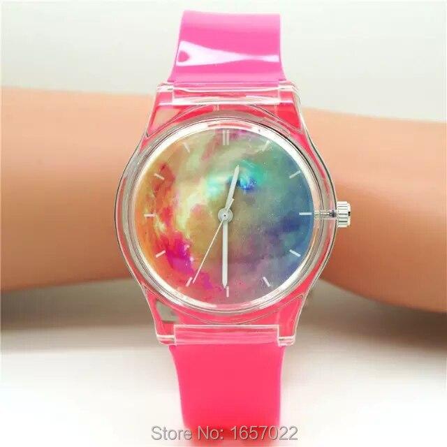 Top Selling Women Unisex  Sunset Design Plastic Wristwatch Promotion Children High Quality  Light Dial Mesa De Regalo