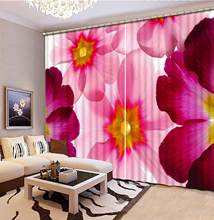 customize european curtains Beautiful flowers window curtain bed room living room photo print curtains(China)