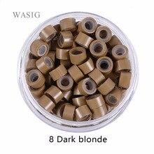 5000 pièces 5mm Silicone doublé Micro anneaux liens perles pour I tip cheveux extension outils 1 # noir. 9 couleurs En Option