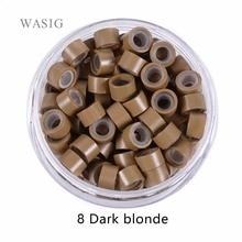 5000 stücke 5mm Silikon Gefüttert Micro Ringe links perlen für spitze ICH haar verlängerung werkzeuge 1 # schwarz. 9 farben Optional