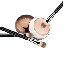 1 Set Nature Moisturizing BB Cream Blemish Hide Concealer Makeup Foundation with Powder Brush Hot Sale