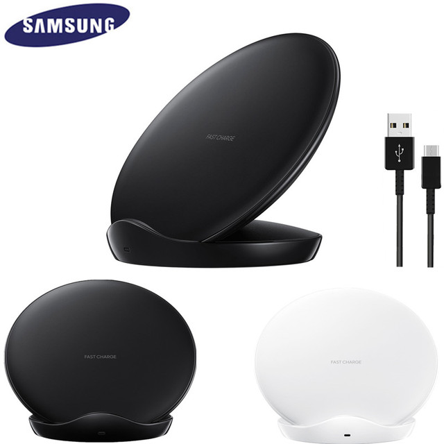 Original Samsung Fast Wireless Charger For Galaxy S10 S9 S8 Plus S7 edge Note 9 8 /iPhone X XR XS 8 / EP-N5100 Qi Charging Pad