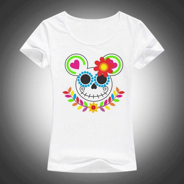 new summer women tops minnie mouse sugar skull t shirt women