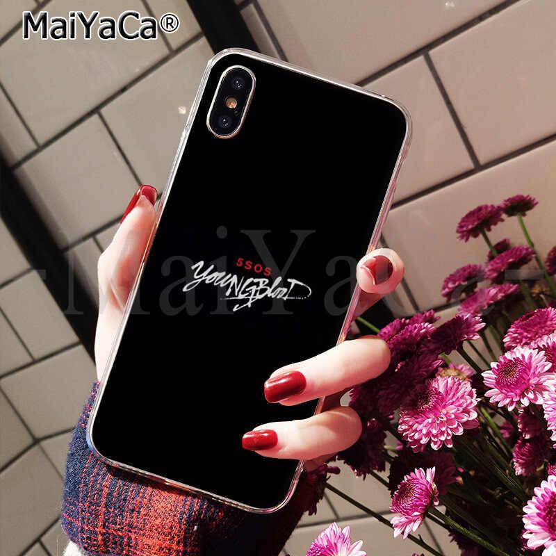 Maiyaca capa de celular 5sos para iphone, x xs max 6 6s 7 7plus 8 8plus 5 5S se xr
