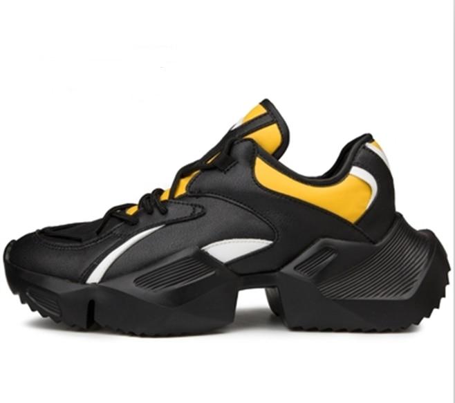 Chaussures pour hommes en cuir véritable rouge noir blanc Clunky chaussures pour hommes en plein air chaussures de course pour hommes rétro chaussures de Designer imperméables