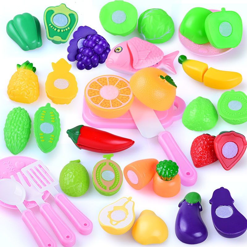 Children's Simulation Can Cut Fruit And Vegetable Kitchen Toys Puzzle Bare Bulk Bulk Wholesale Play Toy Bulk