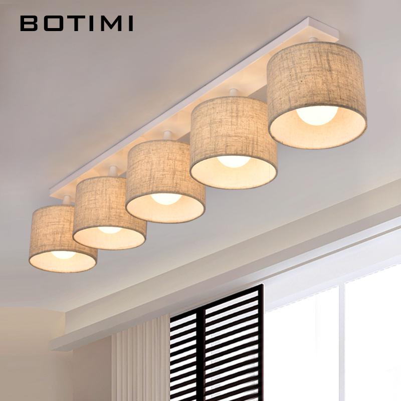 BOTIMI Moderne Stoff Lampenschirm Deckenleuchte Mit E27 Lamparas De Techo Tuch Decke Montiert Hause Leuchte Fr