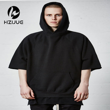 HZIJUE 2017 Boys hooded sweater short-sleeved t-shirt female summer and man casual