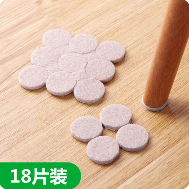 Delicieux 18PCS Oak Furniture Chair Table Leg Self Adhesive Felt Pads Wood Floor  Protectors Protect Wooden Laminate