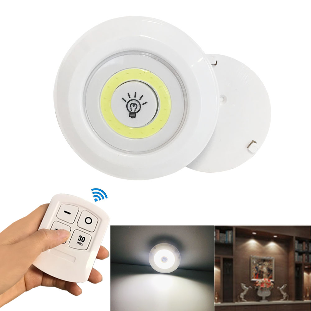 Remote Cabinet Light Led Light AAA Bettery Powered Dimmable Touch White Night Lamp For Bedroom Kitchen Lighting Decor
