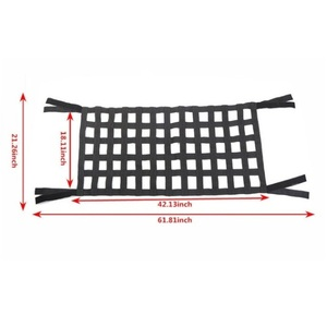 Image 2 - Car Auto Hammocks Bed Cargo Net Roof Rack Luggage Cargo Net For Jeep Wrangler JK 07 18