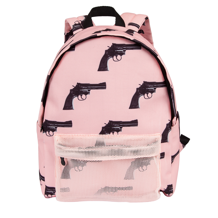 YIZI Original designed polyester canvas backpacks unisex in CAPSULE series(FUN KIK) yizi portable macaron colored transparent mesh cloth backpacks for girls and boys [fun kik]