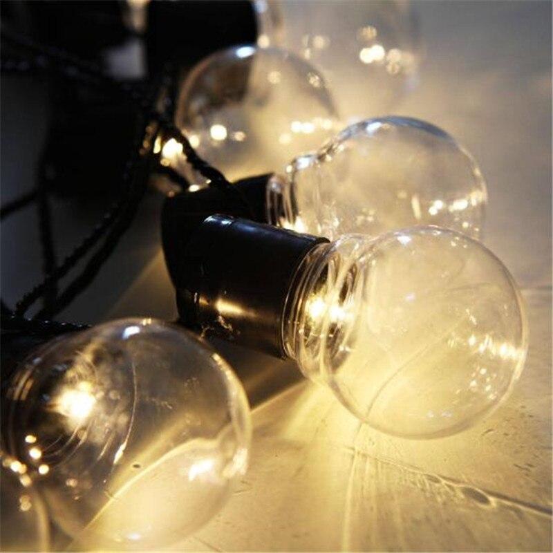 AC110V 220V Edison LED Ball Light String Globe Festoon Bulb Wedding Flexible String Light Wedding Xmas Garland Light EU US Plug in Lighting Strings from Lights Lighting