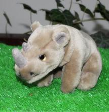 Kids Toys Rhino Horns Doll font b Plush b font Toy Simulation Wildlife Car Toy