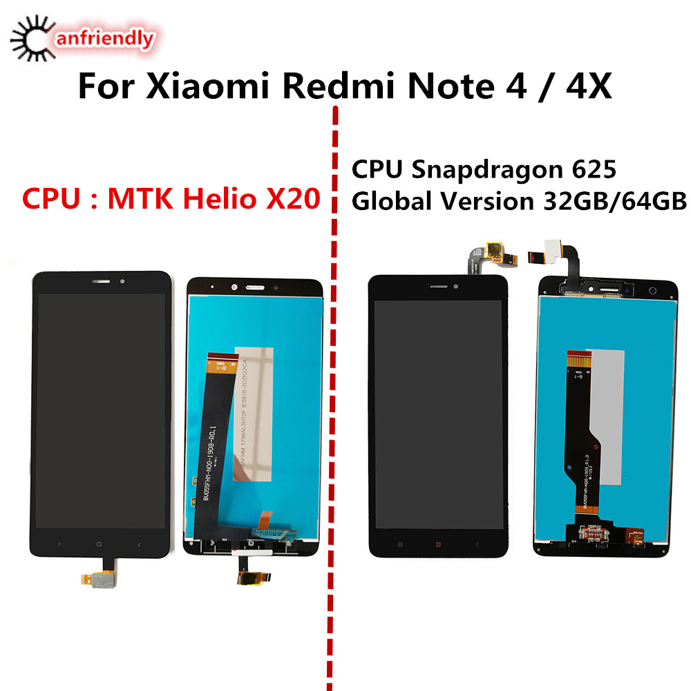 For Xiaomi Redmi Note 4 LCD Display+Touch Screen Replacement Digitizer Assembly For Xiaomi Redmi Note4 Note 4X Phone replace lcd