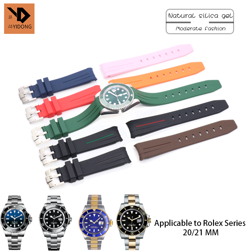 20mm 21mm Silicone Rubber Watch Strap Sport Band Suitable for Omega Seamaster Role Submariner Daytona OYSTERFLEX Certina Watch20mm 21mm Silicone Rubber Watch Strap Sport Band Suitable for Omega Seamaster Role Submariner Daytona OYSTERFLEX Certina Watch